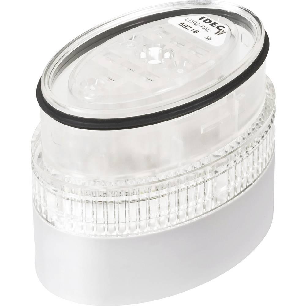 Idec LD9Z-6ALW-W LED-signalni stolp LD6A svetlo siv 24 V DC/AC porabe toka 20 mA barva bela zaščita IP65