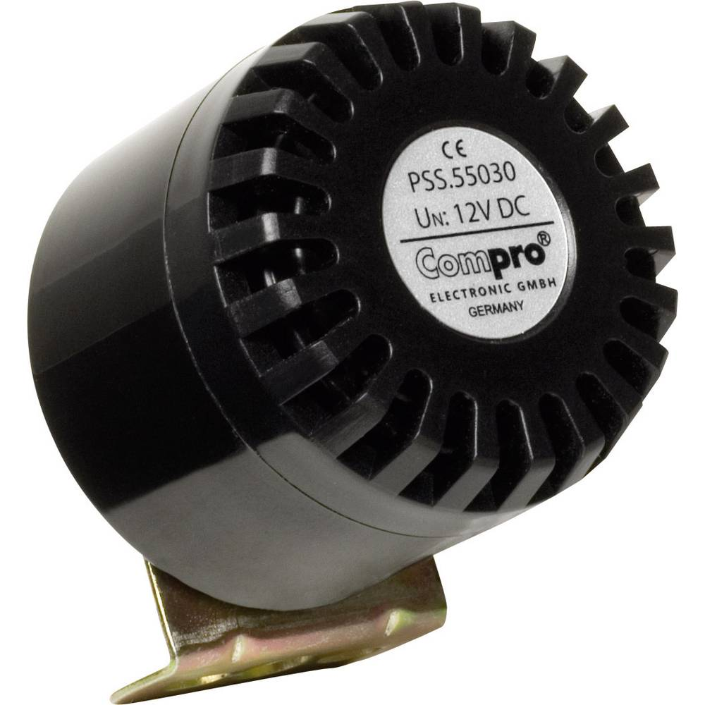 Piezo sirena ComPro PSS, barva: črna, 110 V, vrsta zaščite::črna, 110 V, vrsta zaščite: PSS.55.120.B
