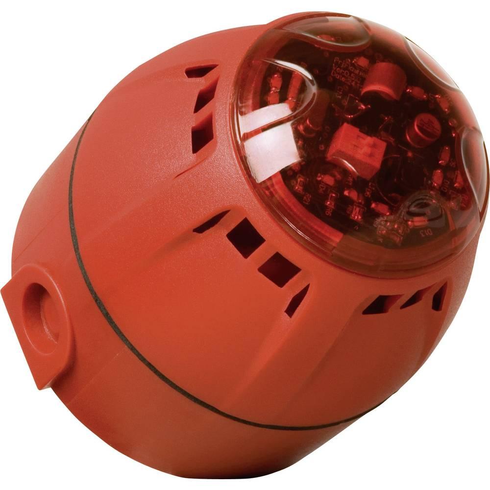ComPro-LED bljeskalica upozoravajuća/sirena, Chiasso Razor,9-28V/DC,67-100 dBA,crvena IP65 CH/100/AV/DR/RAZOR