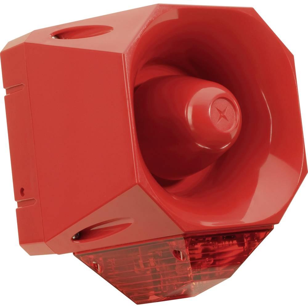 Opozorilna sirena s ksenonskobliskavico in utripajočo lučjobliskavico in utripajočo lučjo AS/SB/024/R/120/RL ComPro