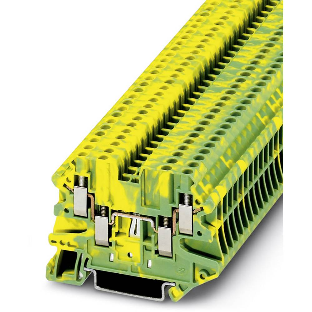UT 2,5-QUATTRO-PE - gennem terminal Phoenix Contact UT 2,5-QUATTRO-PE Grøn-gul 50 stk