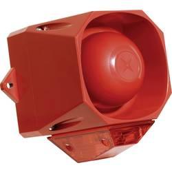 Opozorilna COMPRO sirena s ksenon bliskavico, stroboskop Asserta Midi AV 9-60 V/DC 110 dBA, IP66, rdeča, AS/M/R/9-60