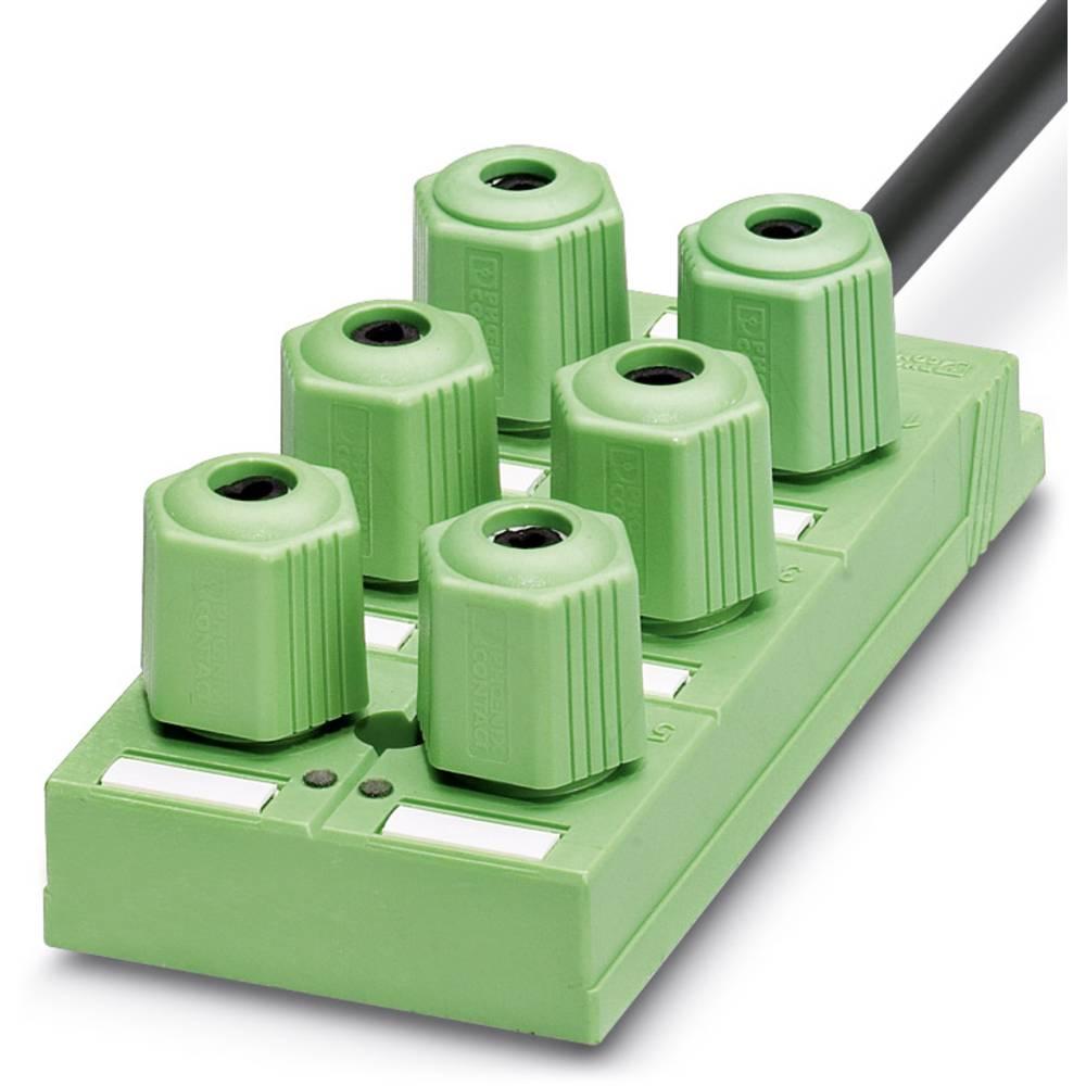 Sensor/aktorbox passiv QUICKON-fordeler SACB-6Q/4P-L- 5,0PUR 1695252 Phoenix Contact 1 stk