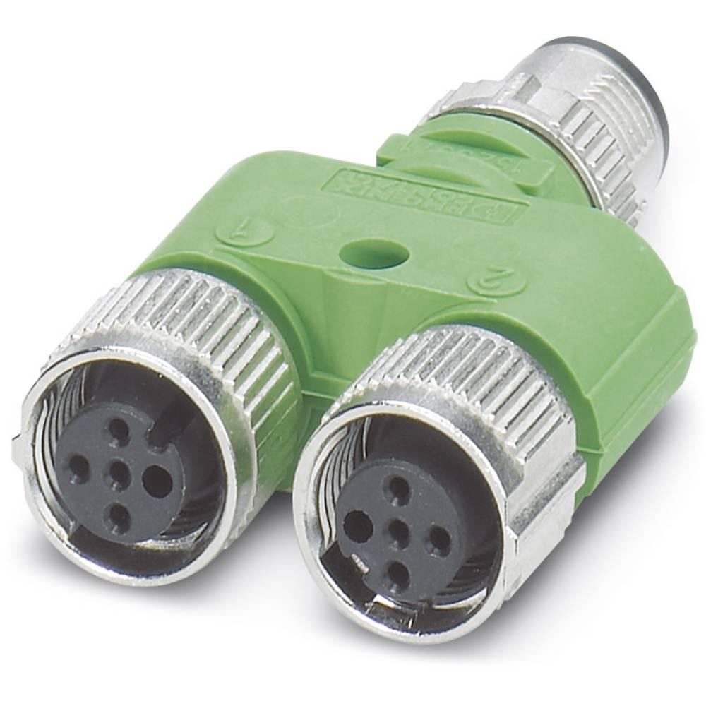 Sensor-/Aktor-Verteiler ARC adapter M12 Adapter, Y-form Pol-tal (RJ): 4 Phoenix Contact 1523968 SAC-3P-Y/2XFS B PE SCO 5 stk