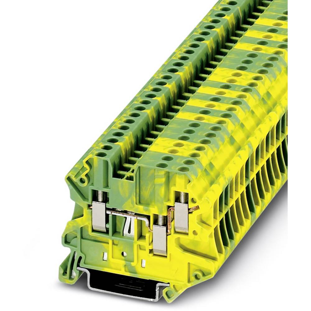 UT 2,5-TWIN-PE - gennem terminal Phoenix Contact UT 2,5-TWIN-PE Grøn-gul 50 stk