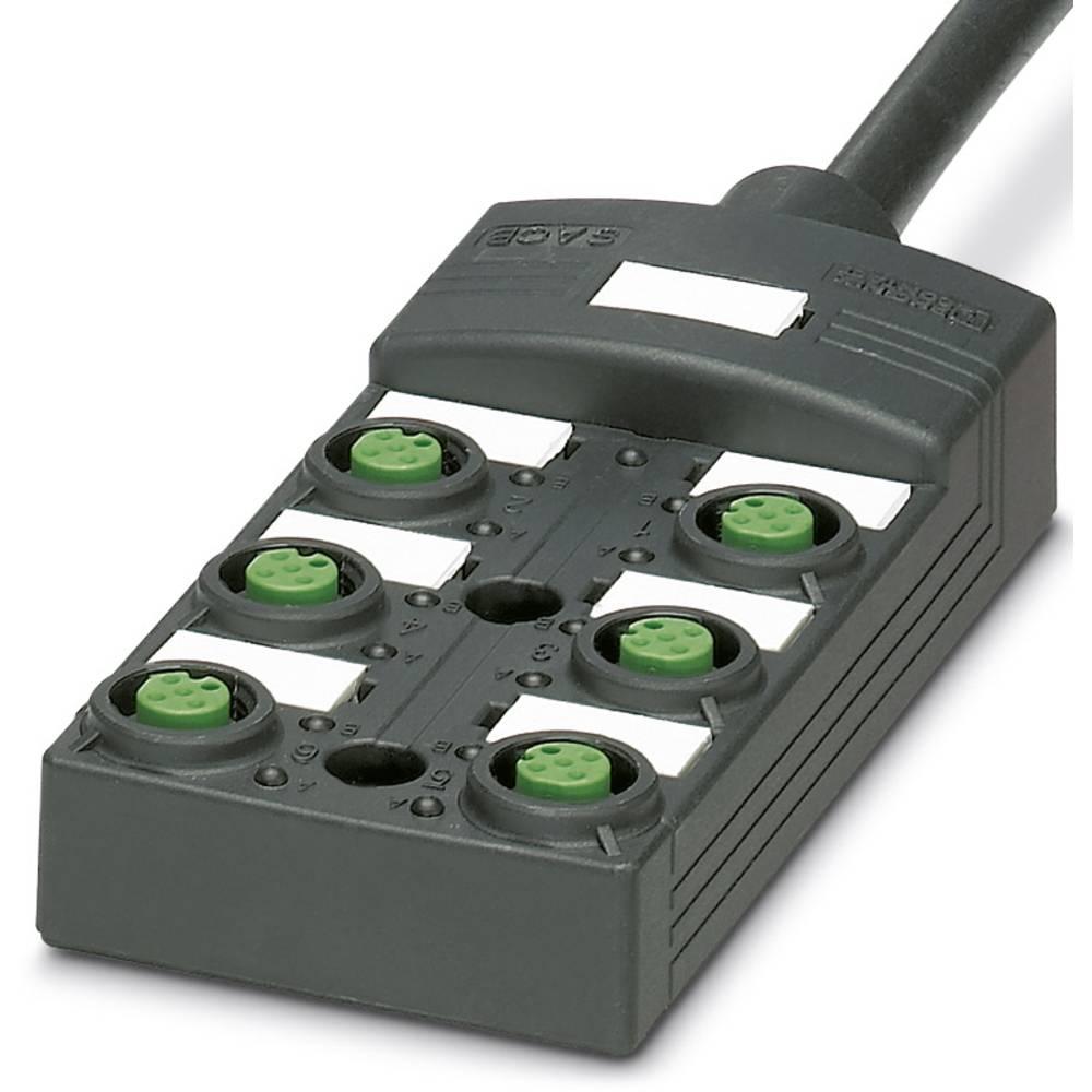 Sensor/aktorbox passiv M12-fordeler med kunststofgevind SACB-6/ 6- 5,0PUR SCO P 1452453 Phoenix Contact 1 stk