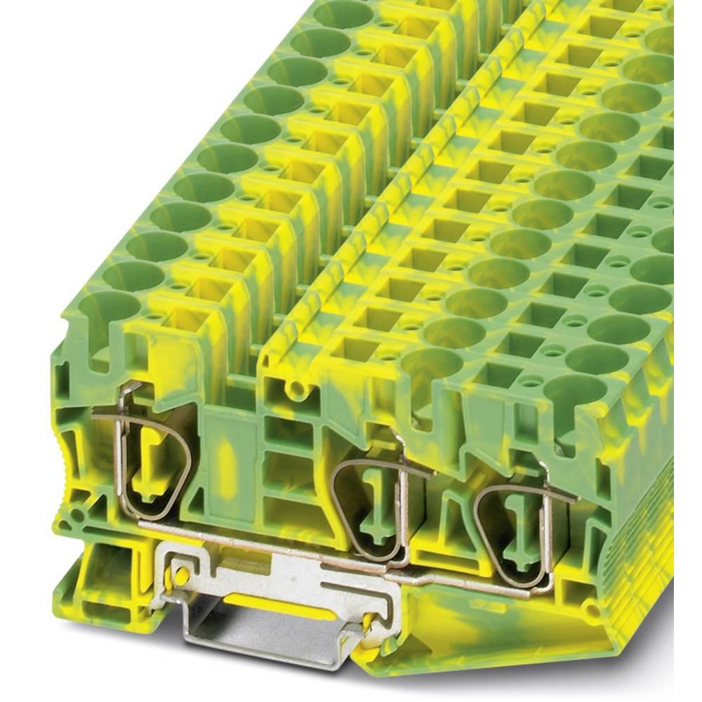 ST 10-TWIN-PE - beskyttelsesleder klemrække Phoenix Contact ST 10-TWIN-PE Grøn-gul 25 stk