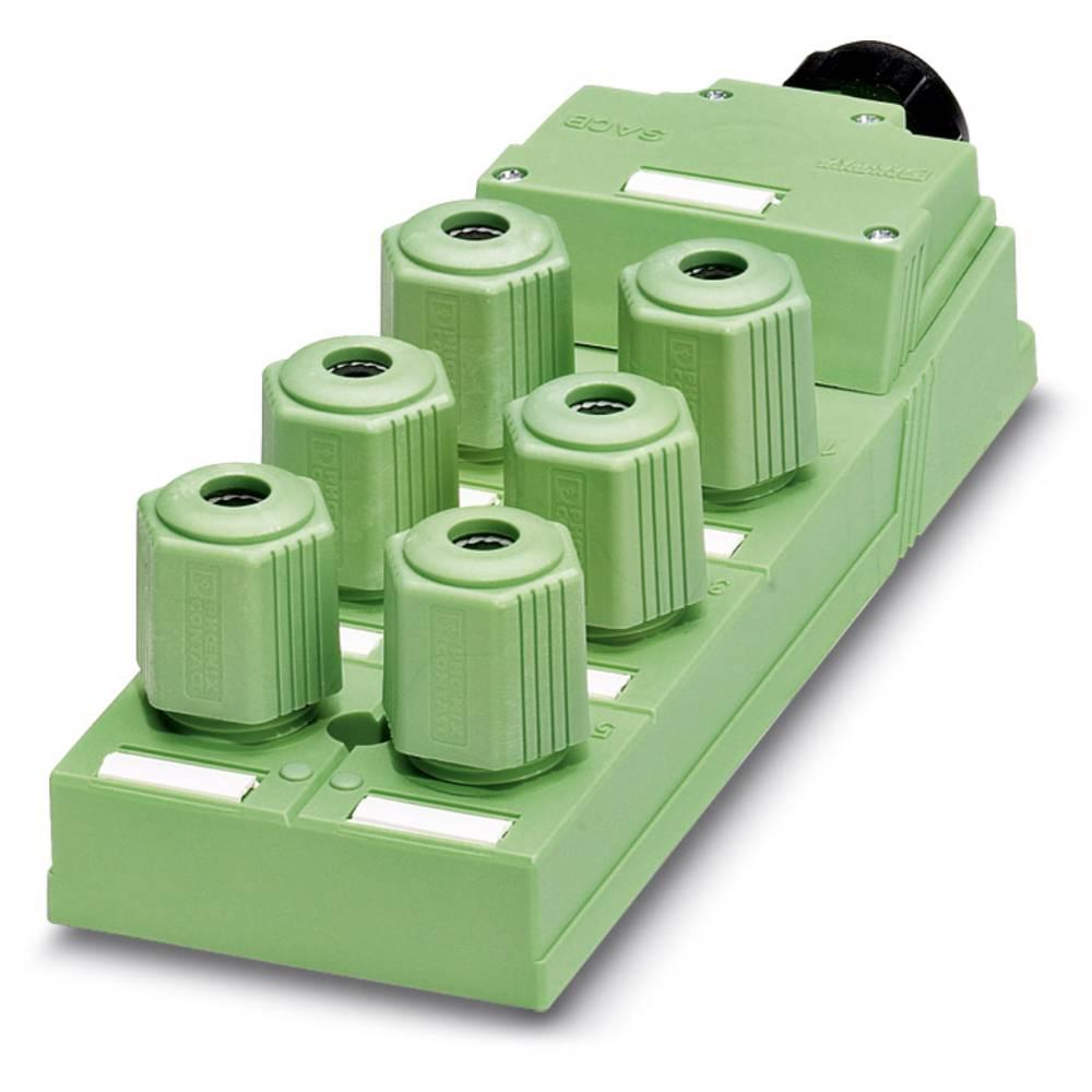 Sensor/aktorbox passiv QUICKON-fordeler SACB-6Q/4P-L-SC 1662942 Phoenix Contact 1 stk