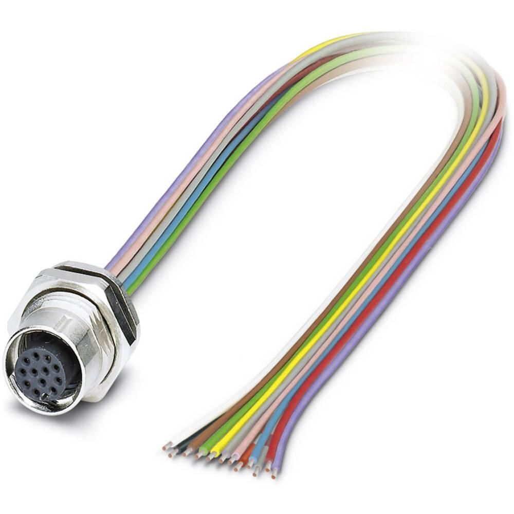 Sensor/ställdon-kontaktdon M12 Hona inbyggd 0.50 m Antal poler (RJ): 12 Phoenix Contact 1419713 SACC-DSI-M12FS-12CON-M16/0,5 1 s