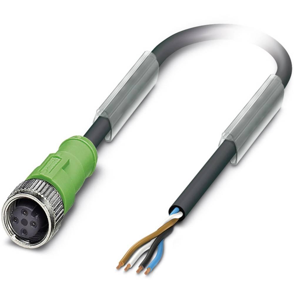 Sensor-, aktuator-stik, Phoenix Contact SAC-4P- 5,0-PVC/M12FS BK 1 stk
