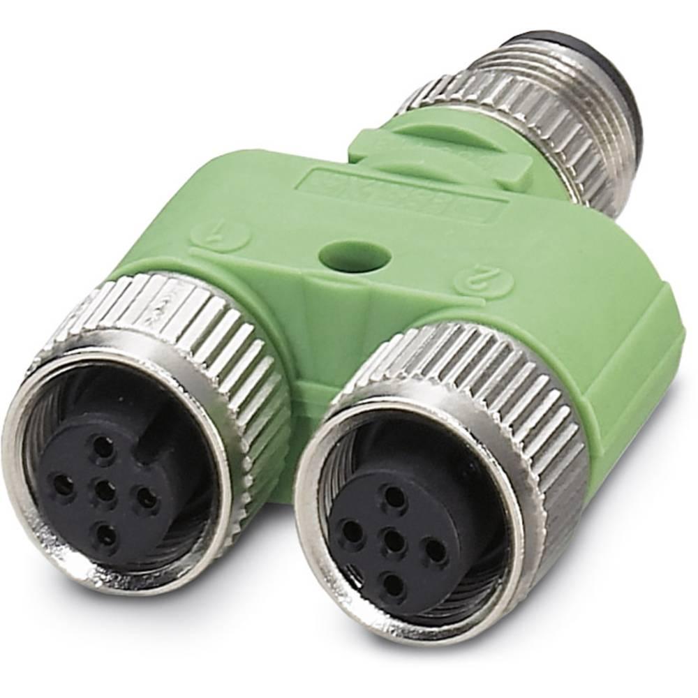 Sensor-/Aktor-Verteiler ARC adapter M12 Adapter, Y-form Pol-tal (RJ): 4 Phoenix Contact 1683455 SAC-3P-M12Y/2XM12FS PE 5 stk