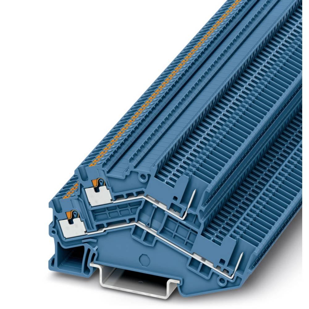 PTTBS 1.5 / S / 2P BU - beskyttelsesleder dobbeltdækker terminal Phoenix Contact PTTBS 1,5/S/2P BU Blå 50 stk