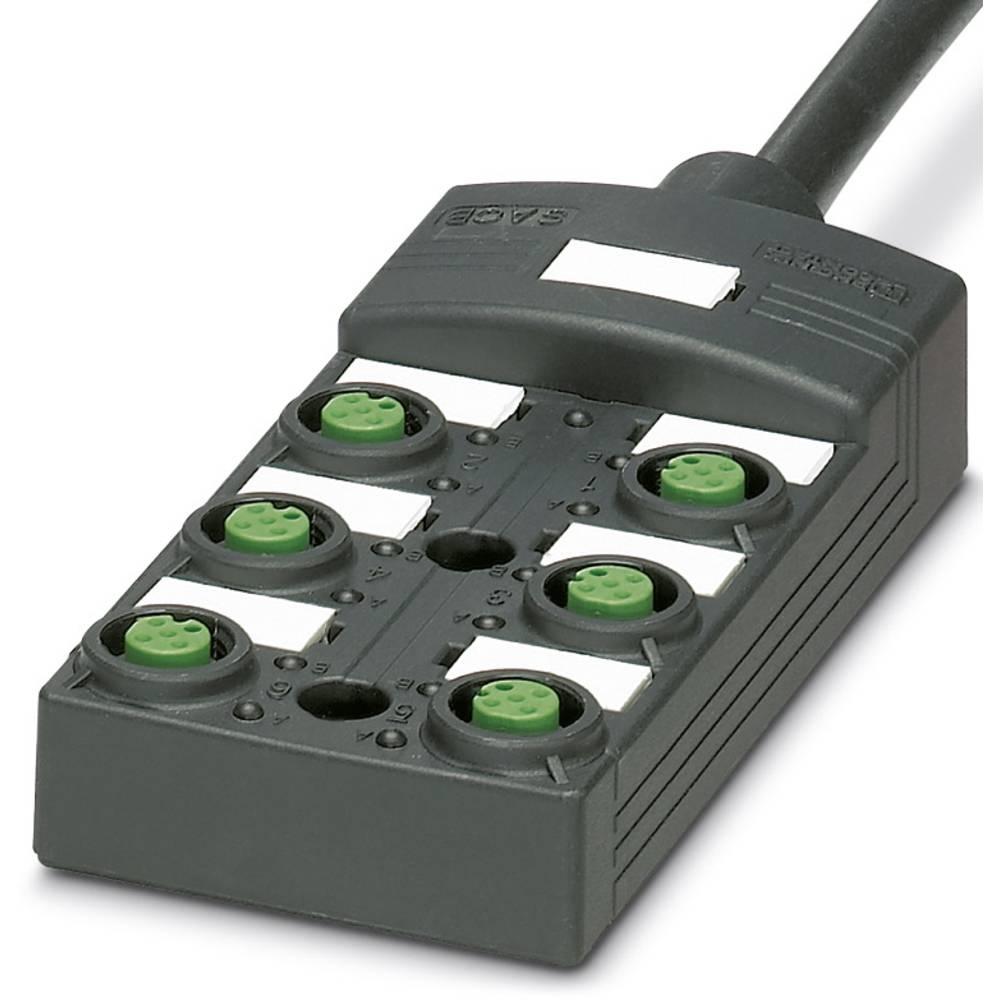 Sensor/aktorbox passiv M12-fordeler med kunststofgevind SACB-6/12-L-10,0PUR SCO P 1452673 Phoenix Contact 1 stk