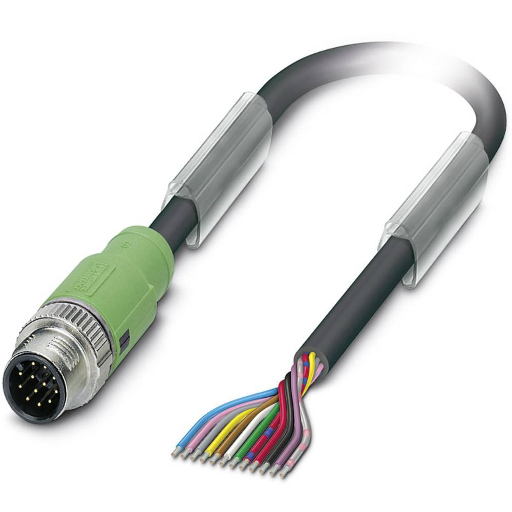 Sensor-, aktuator-stik, M12 Stik, lige 3 m Pol-tal (RJ): 12 Phoenix Contact 1554788 SAC-12P-MS/ 3,0-PVC SCO 1 stk