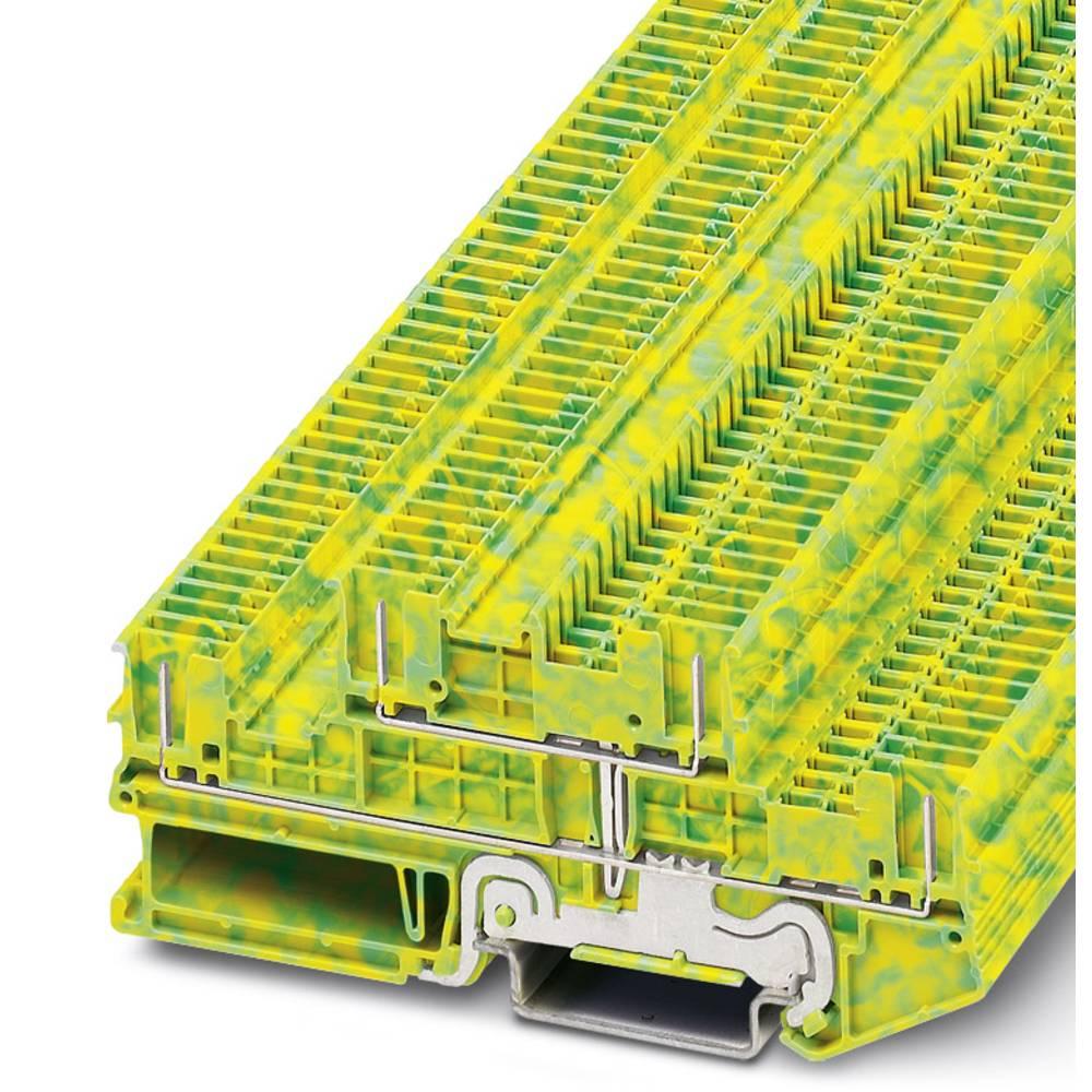 PTTB 1.5 / S 4P-PE / - beskyttelsesleder dobbeltdækker terminal Phoenix Contact PTTB 1,5/S/4P-PE Grøn-gul 50 stk