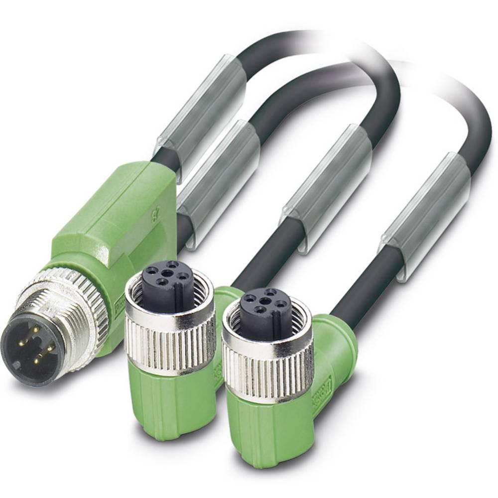 Sensor-, aktuator-stik, Phoenix Contact SAC-3P-M12Y/2X3,0-PUR/M12FR B 1 stk