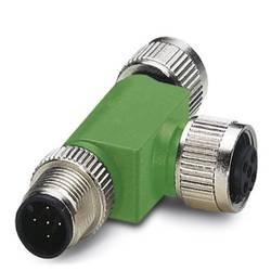 Sensor/ställdon-fördelare & adapter M12 Adapter T-Form Antal poler (RJ): 5 Phoenix Contact 1541186 SAC-5P-M12T/2XM12 VP 1 st