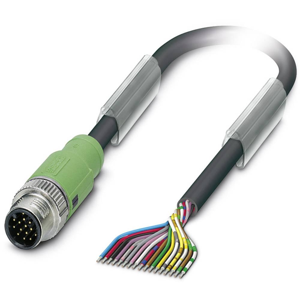Sensor-, aktuator-stik, M12 Stik, lige 10 m Pol-tal (RJ): 17 Phoenix Contact 1430721 SAC-17P-MS/10,0-PUR SCO 1 stk