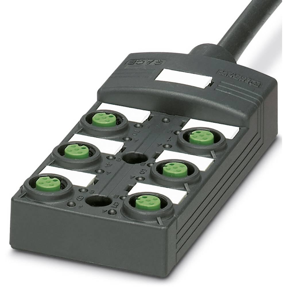 Sensor/aktorbox passiv M12-fordeler med kunststofgevind SACB-6/12- 5,0PUR SCO P 1452482 Phoenix Contact 1 stk