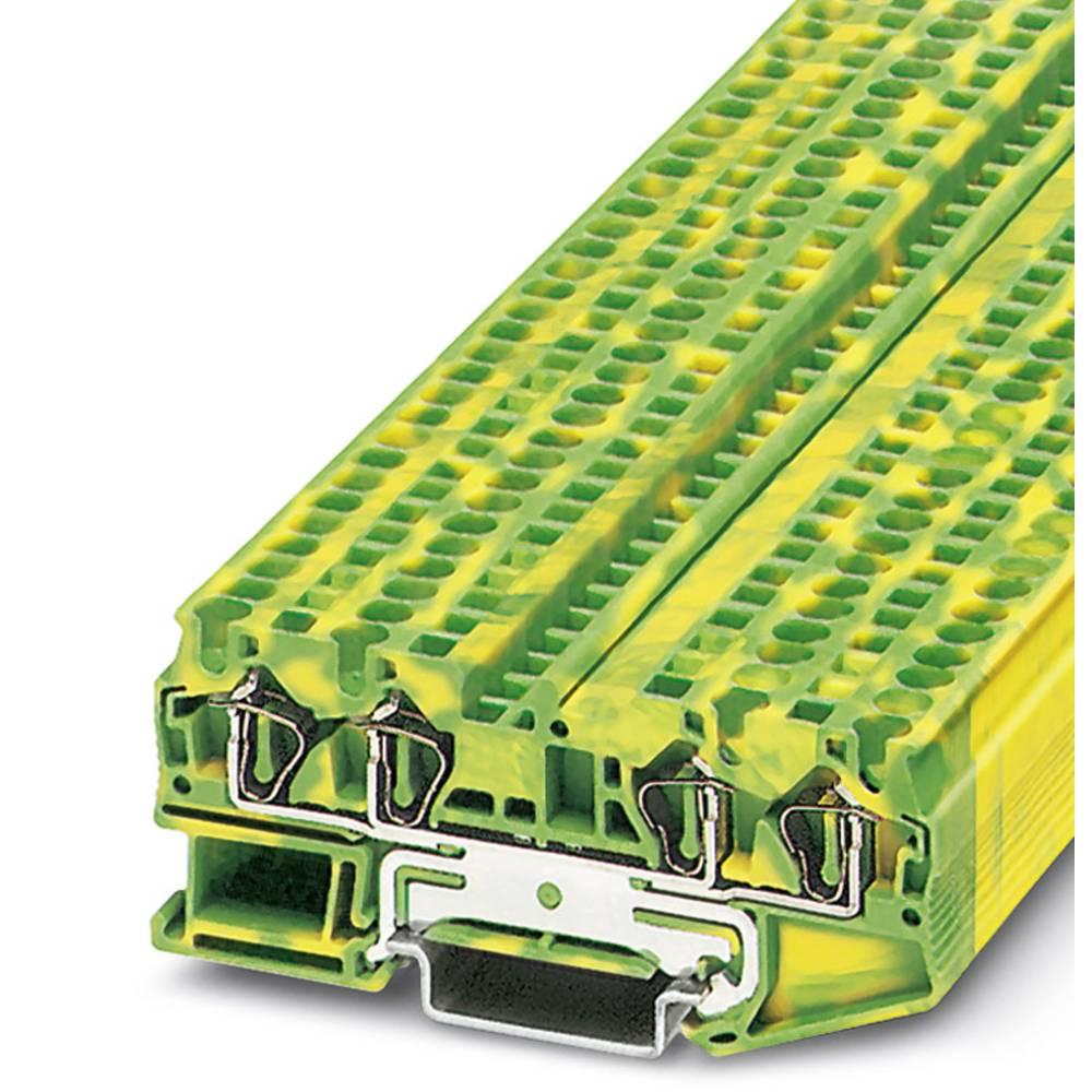 ST 4-QUATTRO-PE - gennem terminal Phoenix Contact ST 4-QUATTRO-PE Grøn-gul 50 stk