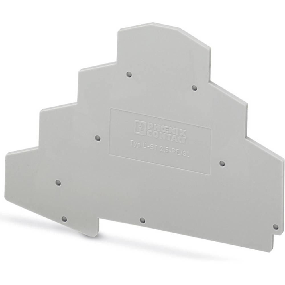 D-ST 2,5-PE / 3L - endedæksel D-ST 2,5-PE/3L Phoenix Contact Indhold: 50 stk