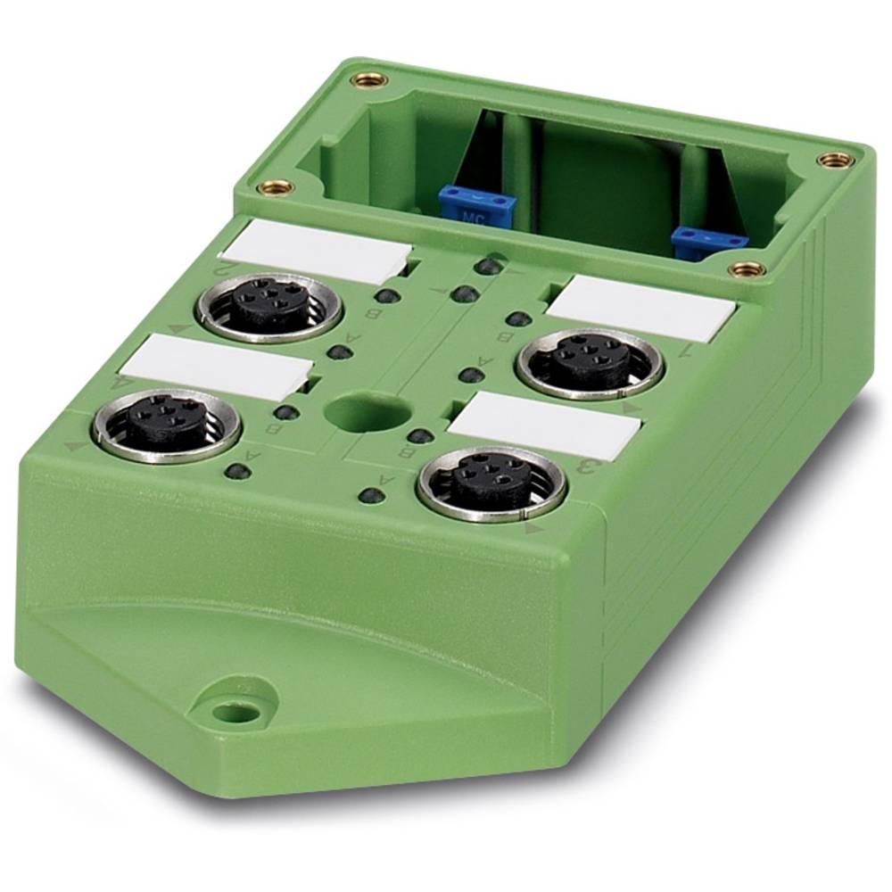 Sensor/aktorbox passiv M12-fordeler med metalgevind SACB-4/ 4-L-C GG SCO 1516726 Phoenix Contact 1 stk