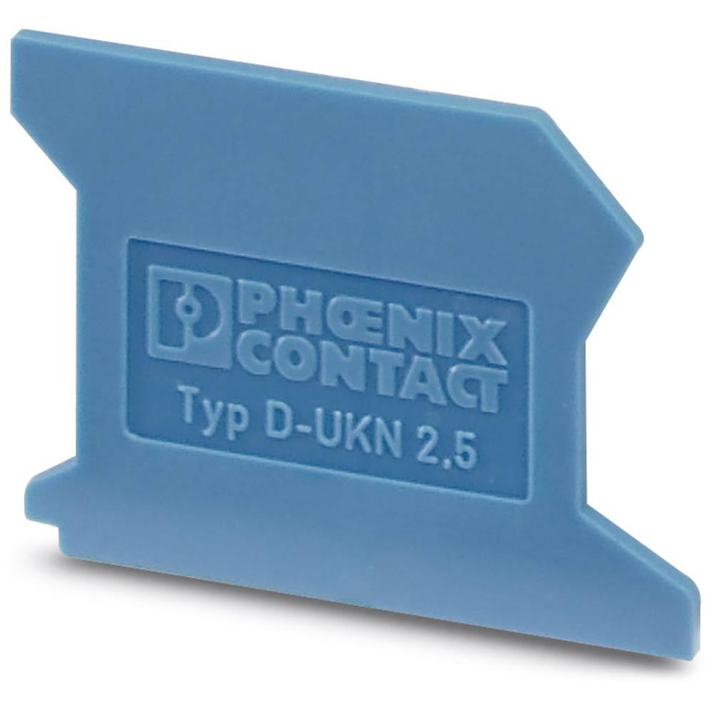 D-UKN 2.5 - End cap D-UKN 2,5 Phoenix Contact Indhold: 50 stk