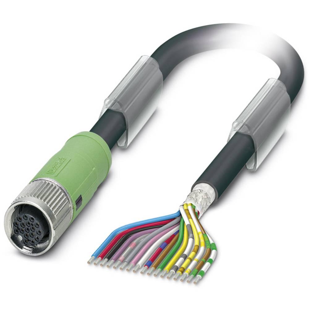 Sensor-, aktuator-stik, M12 Tilslutning, lige 5 m Pol-tal (RJ): 17 Phoenix Contact 1430307 SAC-17P- 5,0-35T/FS SH SCO 1 stk