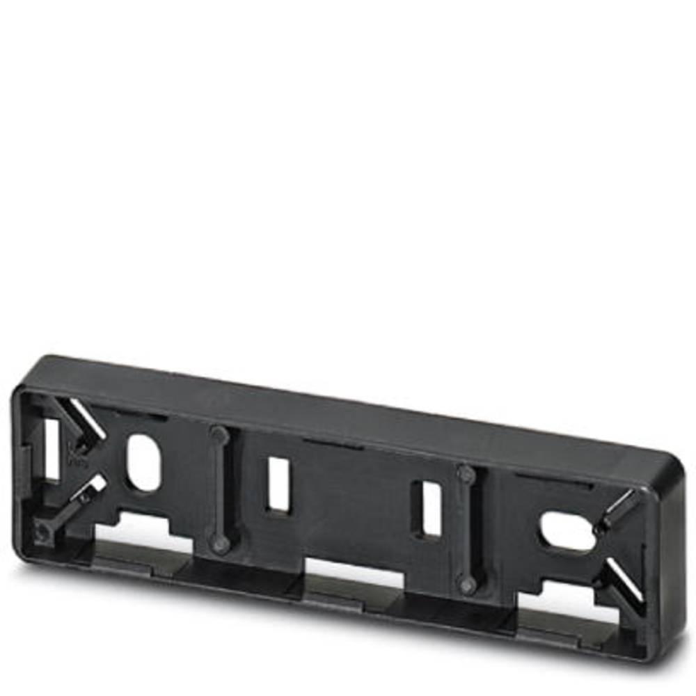 Označevalnik naprav, montaža: pripenjanje, površina: 60 x 15 mm primeren za serijo gumbi in stikala 22 mm črne barve Phoenix Con