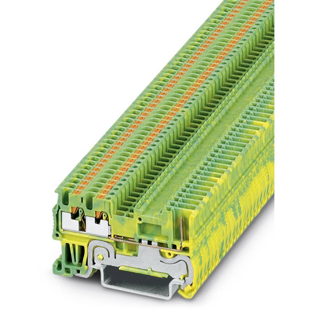 PT 1.5 / S-TWIN / 1P-PE - beskyttelsesleder klemrække Phoenix Contact PT 1,5/S-TWIN/1P-PE Grøn-gul 50 stk