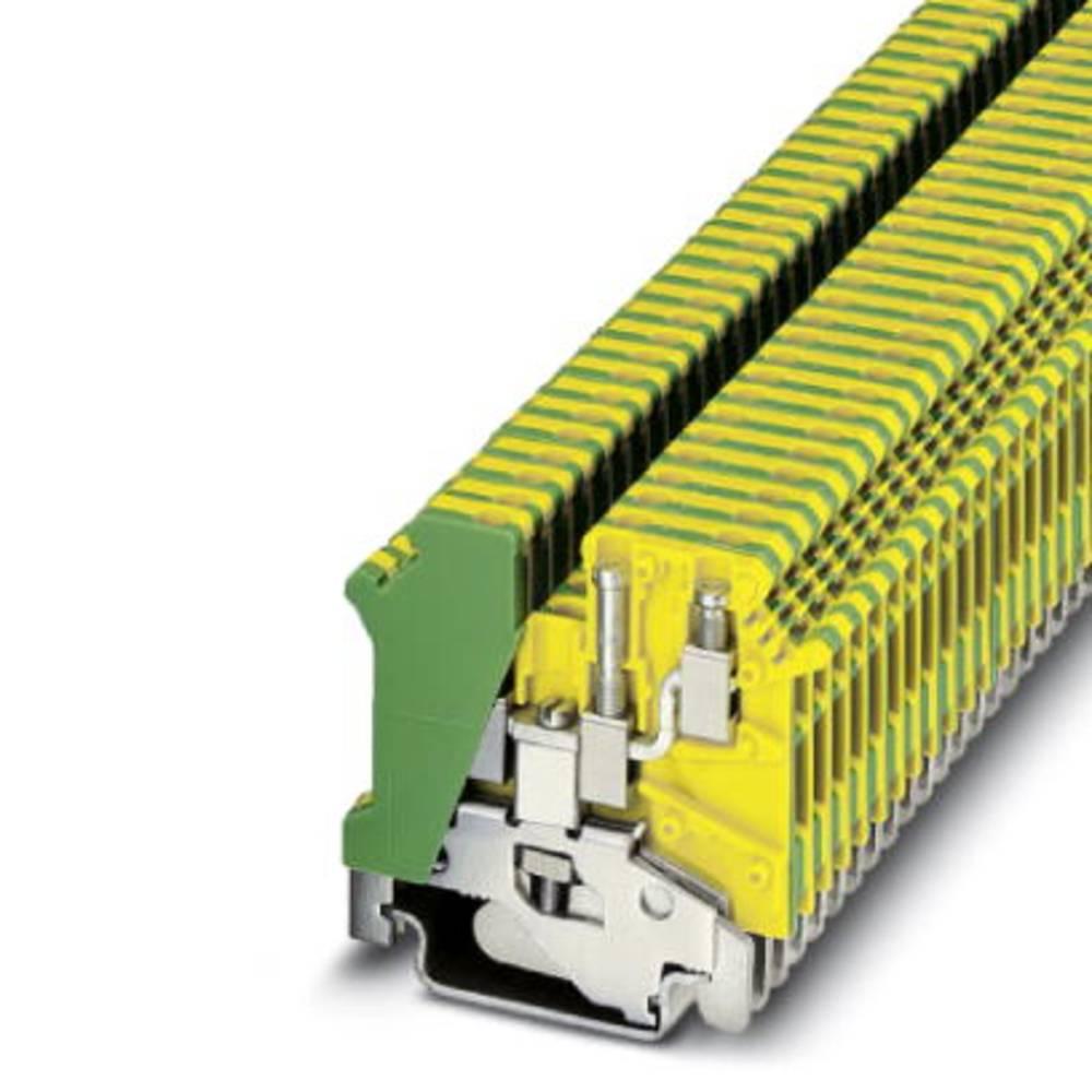 UK 3-TWIN-PE - gennem terminal Phoenix Contact UK 3-TWIN-PE Grøn-gul 50 stk