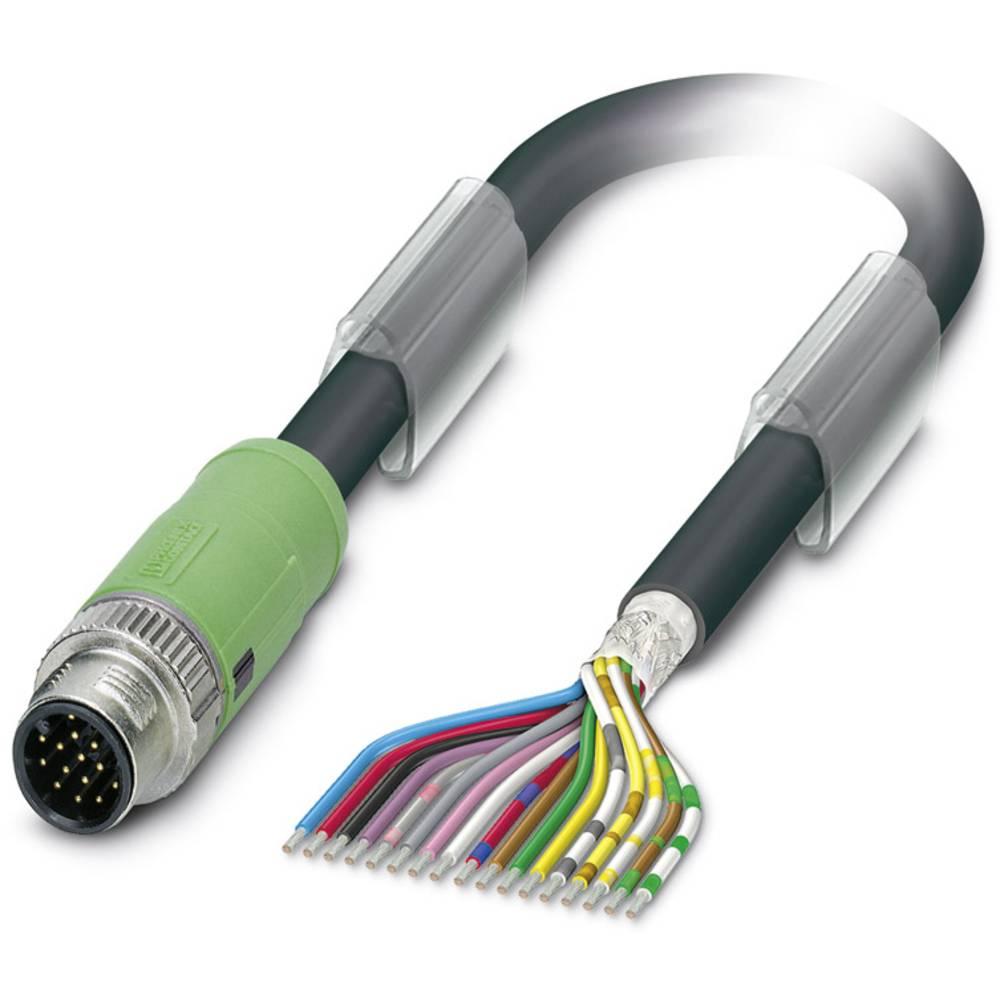 Sensor-, aktuator-stik, M12 Stik, lige 5 m Pol-tal (RJ): 17 Phoenix Contact 1430226 SAC-17P-MS/ 5,0-35T SH SCO 1 stk