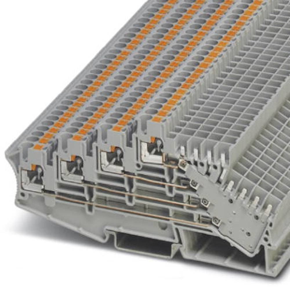 PT 2,5-4L / 2P - Andre Stock-terminal Phoenix Contact PT 2,5-4L/2P Grå 50 stk