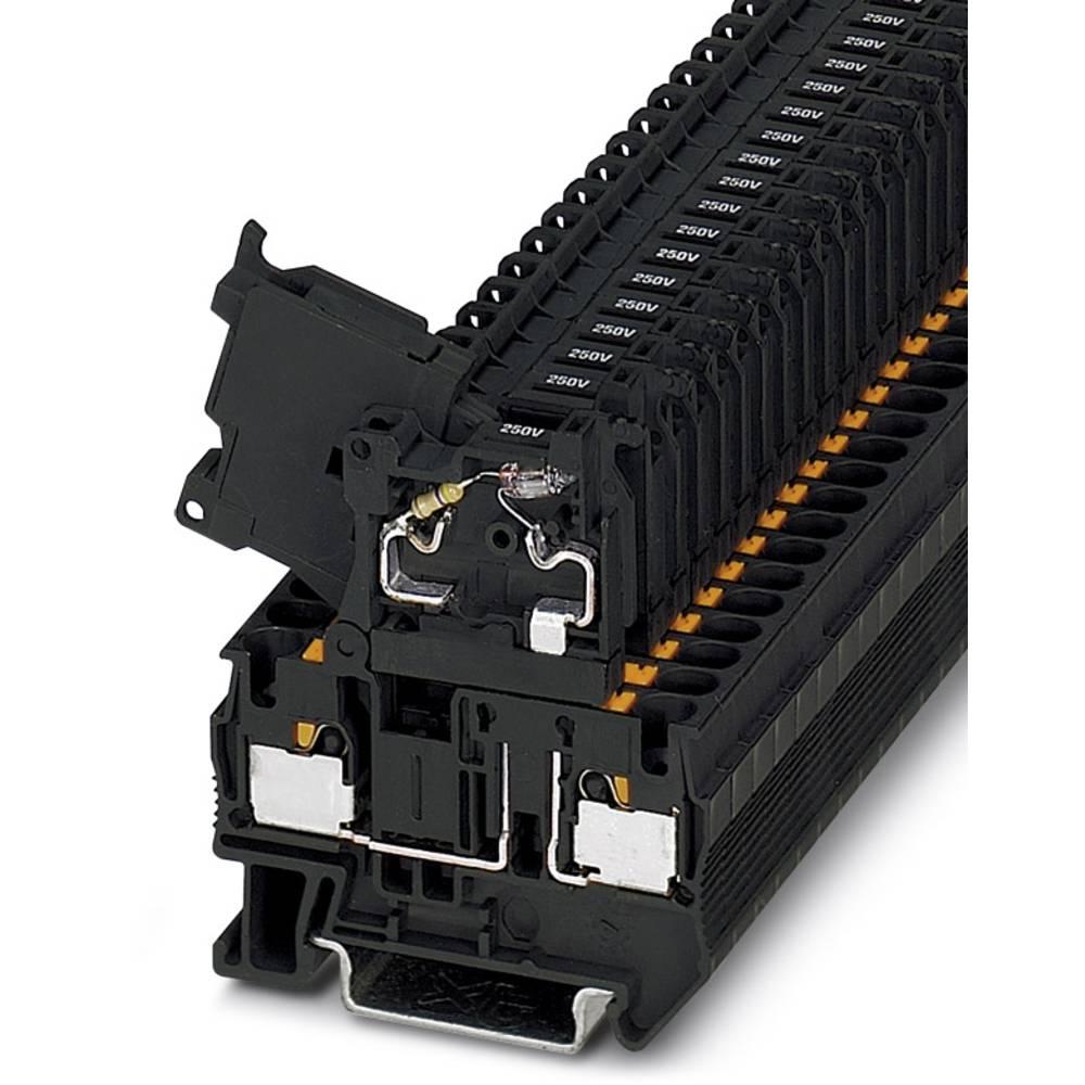 PT 4-HESILA 250 (5X20) - fuse terminal Phoenix Contact PT 4-HESILA 250 (5X20) Sort 50 stk