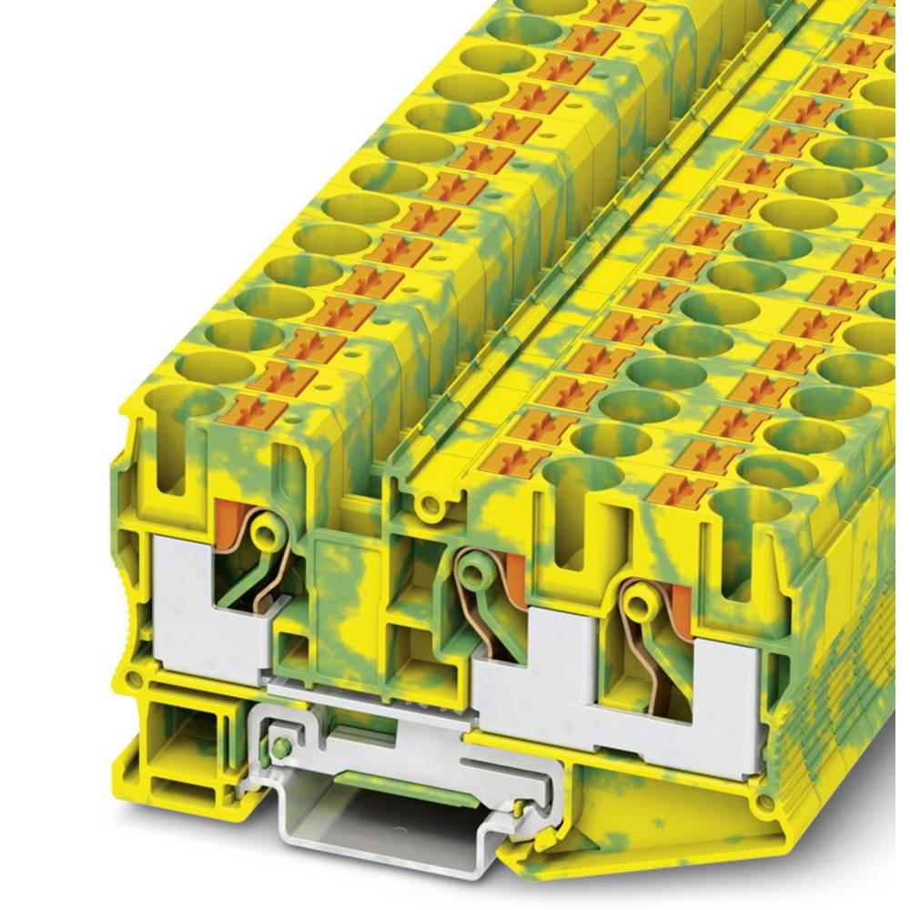 Ground modular terminal block PT 10-TWIN-PE Phoenix Contact PT 10-TWIN-PE Grøn-gul 50 stk
