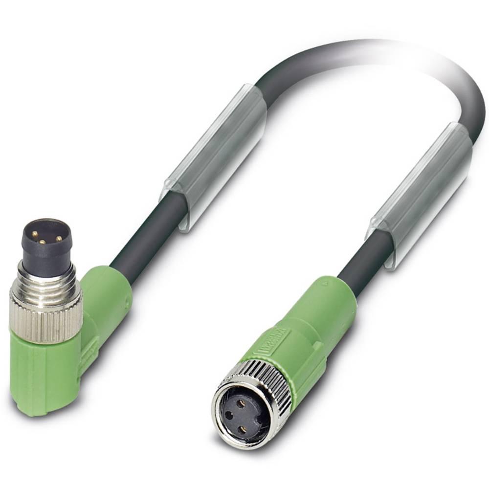 Sensor-, aktuator-stik, M8 Stik, vinklet, Tilslutning, lige 1.50 m Pol-tal (RJ): 3 Phoenix Contact 1682045 SAC-3P-M 8MR/1,5-PUR/