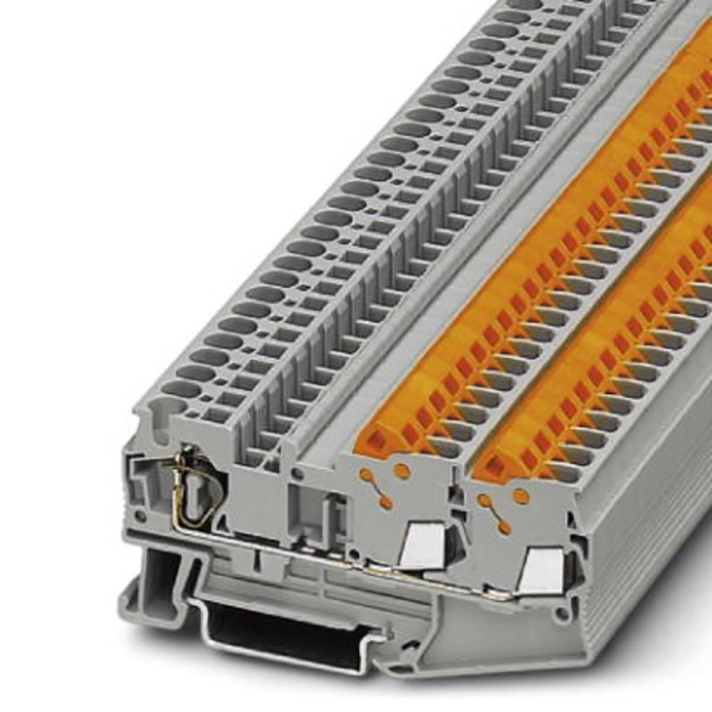 QTC 2,5-TWIN - gennem terminal Phoenix Contact QTCS 2,5-TWIN Grå 50 stk