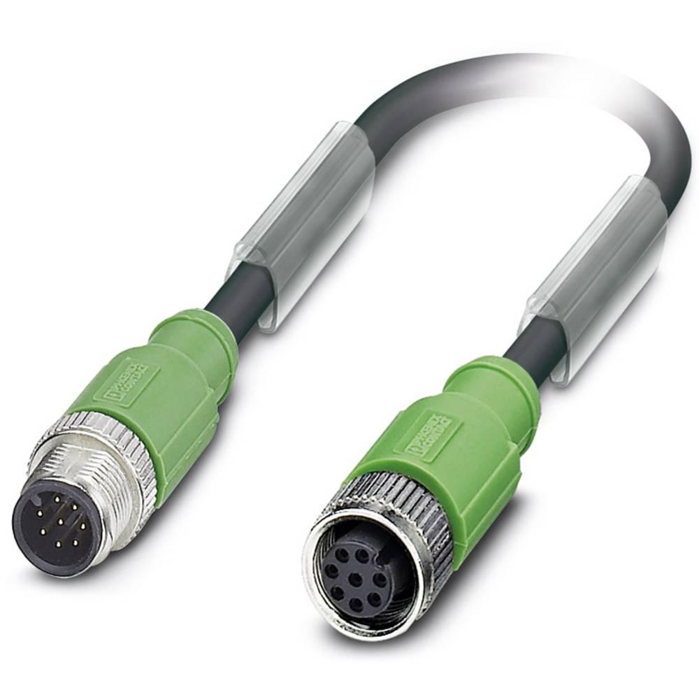 Sensor-, aktuator-stik, Phoenix Contact SAC-8P-M12MS/ 3,0-PUR/M12FS SH 1 stk