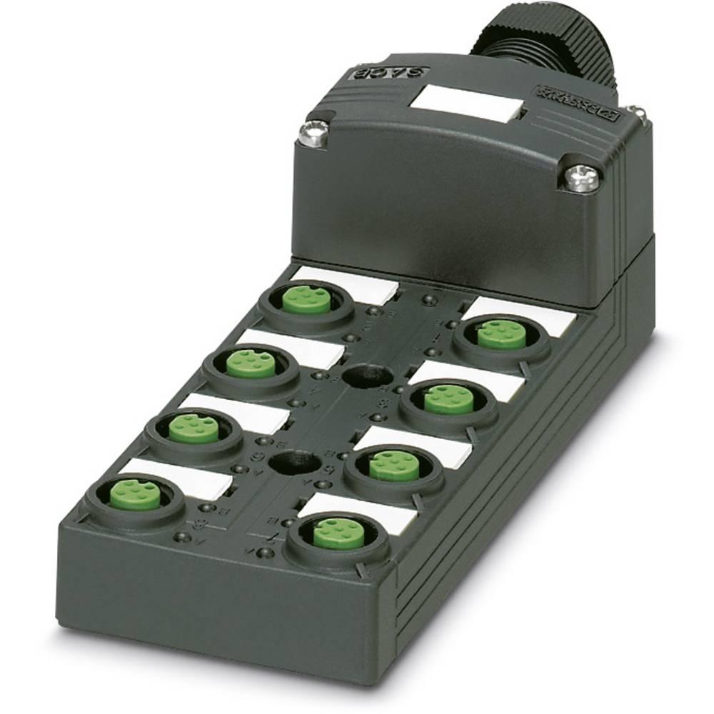 Sensor/aktorbox passiv M12-fordeler med kunststofgevind SACB-8/ 8-L-SC SCO P 1453025 Phoenix Contact 1 stk