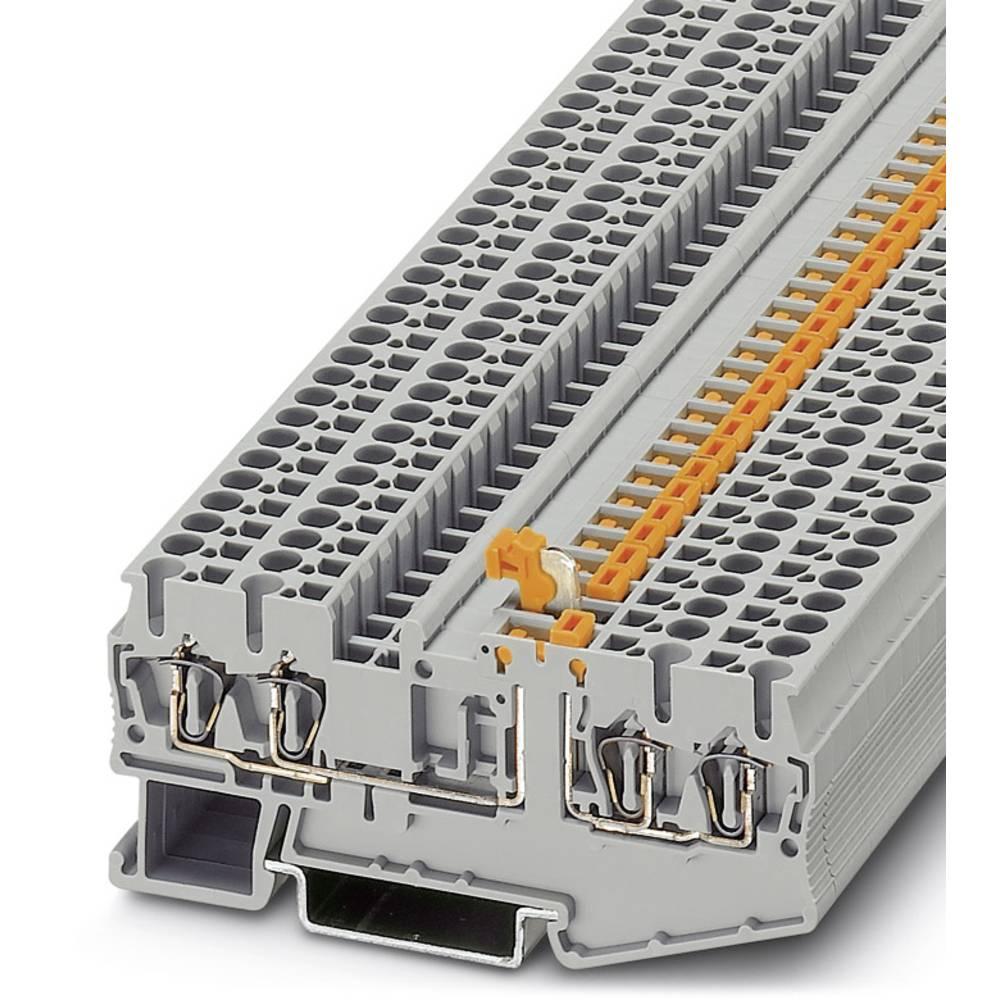 ST 2,5-QUATTRO-MT - spring kniv afbryde terminal Phoenix Contact ST 2,5-QUATTRO-MT Grå 50 stk