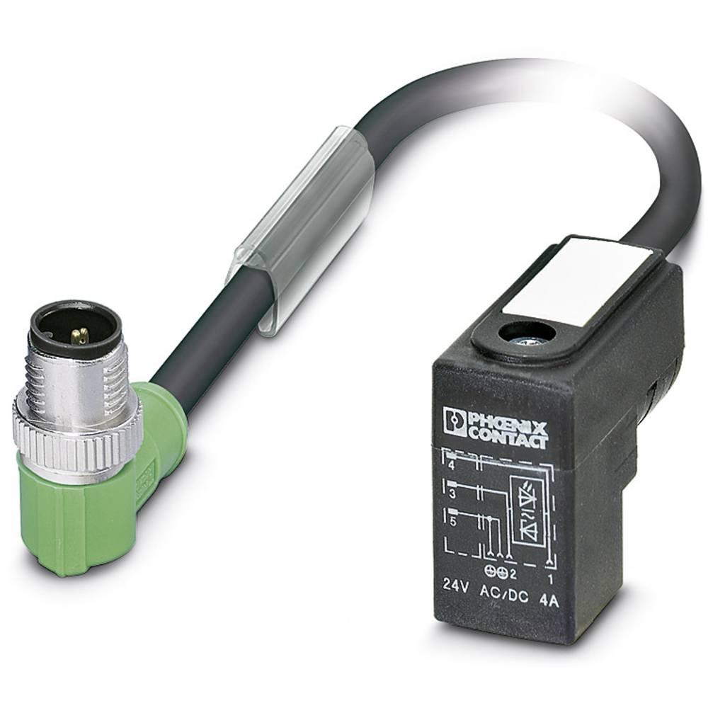 Sensor-, aktuator-stik, M12 Stik, vinklet 3 m Pol-tal (RJ): 3 Phoenix Contact 1435519 SAC-3P-MR/ 3,0-PUR/C-1L-Z SCO 1 stk