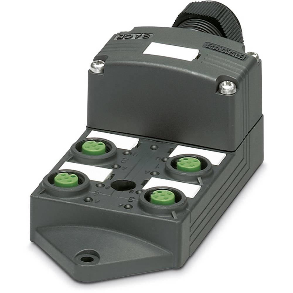 Sensor/aktorbox passiv M12-fordeler med kunststofgevind SACB-4/ 4-L-SC SCO P 1452987 Phoenix Contact 1 stk