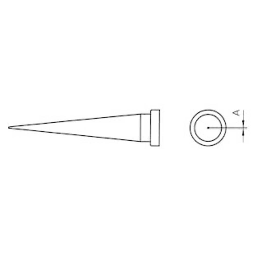 Spajkalna konica, dolga, v obliki stožca Weller LT-1L velikost konice 0.2 mm vsebuje 1 kos