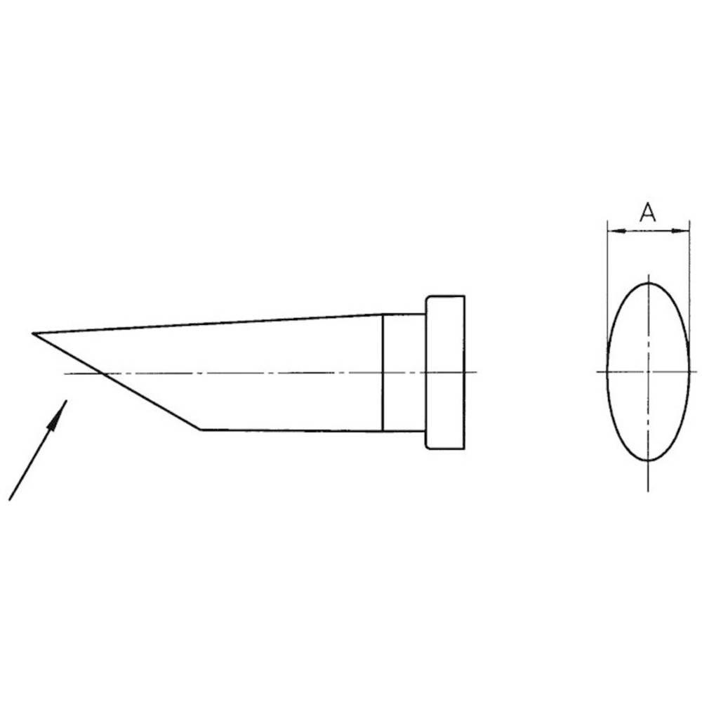 Spajkalna konica okrogle oblike, dolga, prirezana Weller LT-CC velikost konice 3.2 mm vsebuje 1 kos