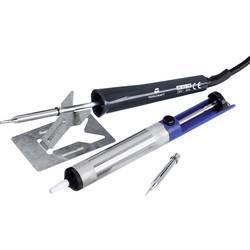 Spajkalnik-komplet, 230 V 15 W TOOLCRAFT MD-015PP v obliki svinčnika, v obliki dleta vklj. z odlagalnikom, z odspajkalno črpalko