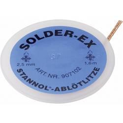 Lödfläta Stannol Solder Ex Längd 1.6 m Bredd 2.5 mm Flussmedel mättat