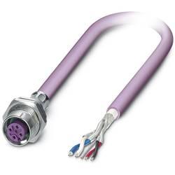 Sensor/ställdon-kontaktdon M12 Hona inbyggd 1 m Antal poler (RJ): 5 Phoenix Contact 1534478 SACCBP-M12FS-5CON-M16/1,0-920 1 st