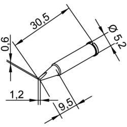 Vrh za lemljenje 102 CD LF 12 Ersa oblika dlijetla, ravni veličina vrha 1.2 mm sadržaj 1 kom.