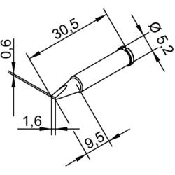 Ersa 102 CD LF 16 lemni vrh dljetast oblik, ravan Veličina vrha 1.6 mm Content 1 St.