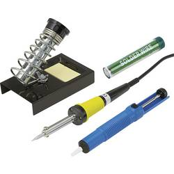 Basetech ZD-30B spajkalnik - komplet 230 V 30 W oblika svinčnika, vklj. žica za spajkanje, vklj. odlagalnik, vklj. odspajkalna č